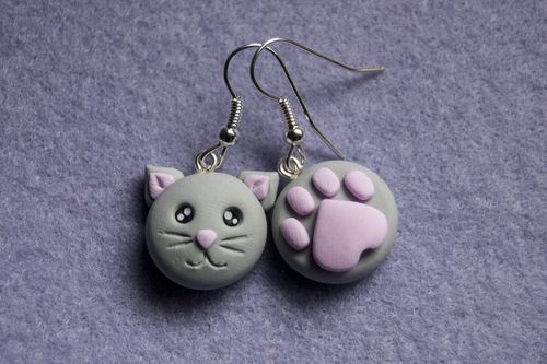 Kitty earring set! <3