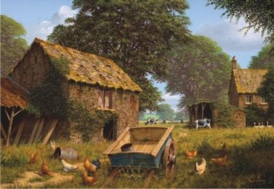 Farmyard - 2000pc Jigsaw Puzzle by Perre