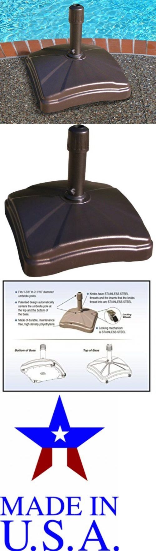 Umbrella Stands 180999: Patio Umbrella Stand Base Outdoor Market Heavy Duty Rolling Holder Deck Sand New -> BUY IT NOW ONLY: $190.89 on eBay!