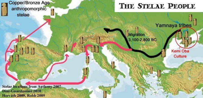 Cum au făcut cei de Bell Beaker răspândit în Europa. Etapa 1: cupru-lucrători muta de la pontic-caspic stepă sus Dunăre, unde au împărțit în două fluxuri în sau lângă Bazinul Carpatic. .