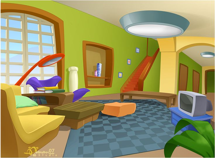 Cmbg living room 2 by aimanstudio cartoon backgrounds pinterest art living rooms and for Cartoon picture of a living room