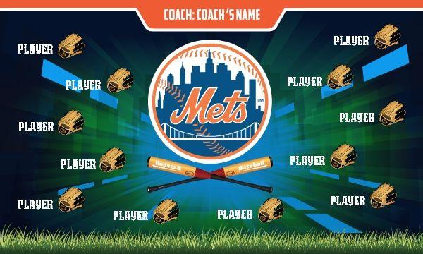 Custom baseball banners, little league baseball banners. Free shipping.