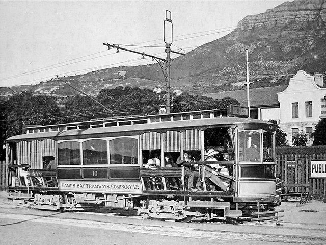 Camps Bay Tram by the Rotunda 1912| Flickr - Photo Sharing!