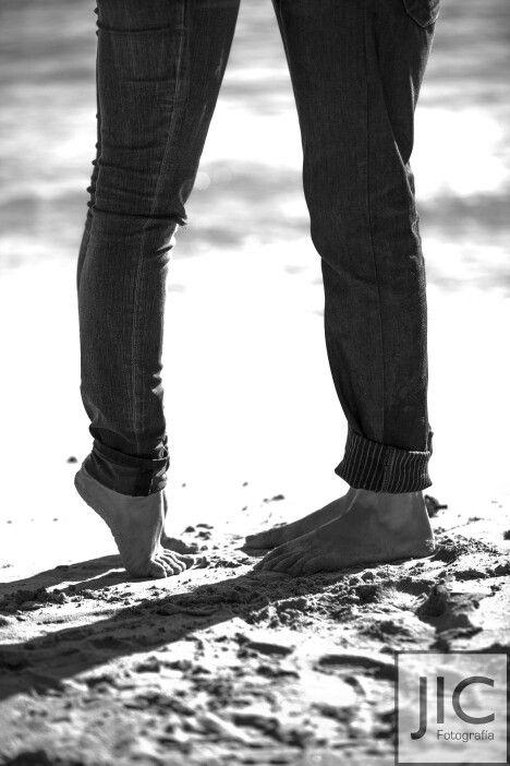 Pies pareja amor playa foots couple love beach
