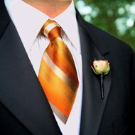 Stylish, bold colours for groom