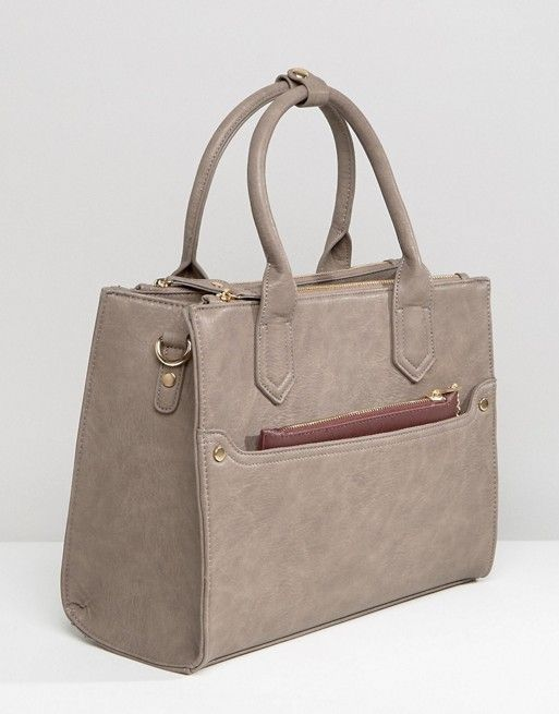 Oasis Tote Bag With Detachable Purse at asos.com