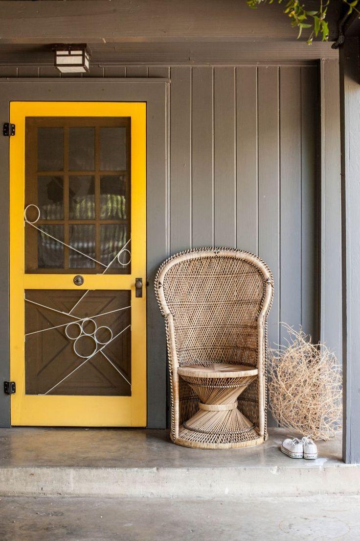 47 best screen doors images on pinterest screen doors front yellow screen door chelsea fullertons austin texas home tour the everygirl vtopaller Choice Image