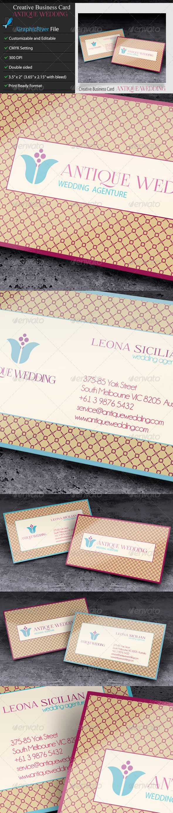 Creative Business Card - AntiqueWedding