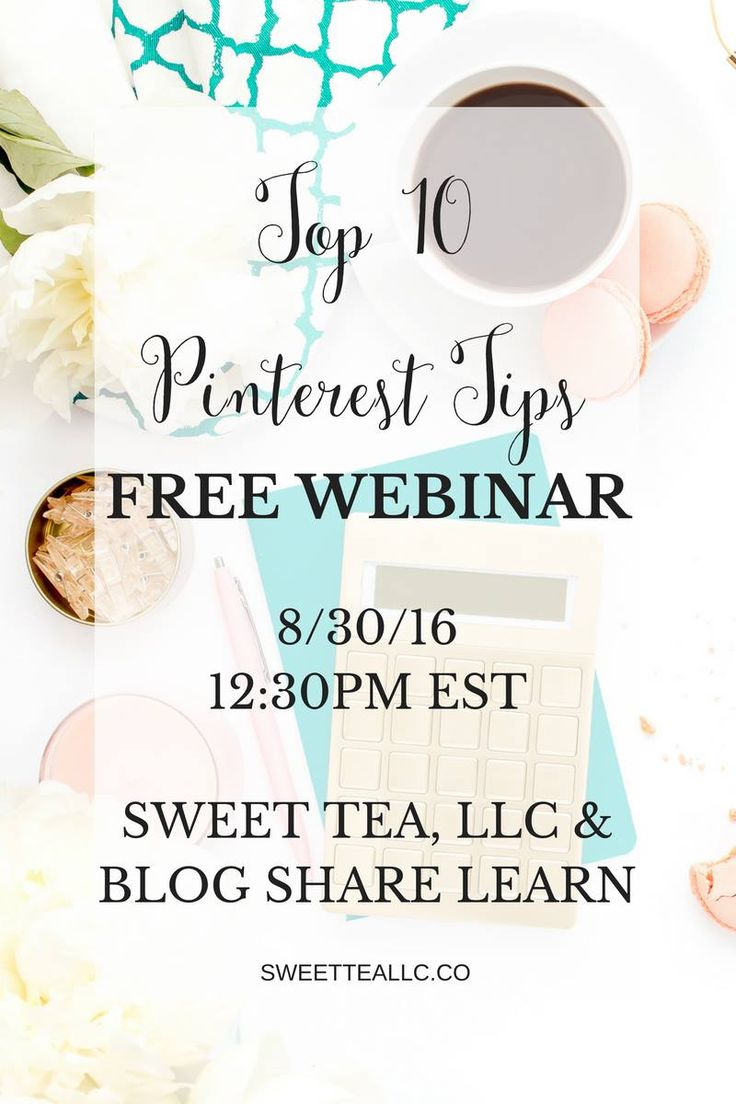 Join Elena Peters of blog share learn and host, Kirsten Thompson of Sweet Tea…