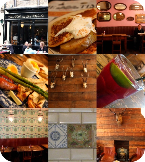 The Elk In The Woods - reliably yummy meal with good booze in one of my favourite bits of London - Camden Passage
