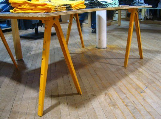 Look yellow sawhorse legs boston Sawhorse desk legs