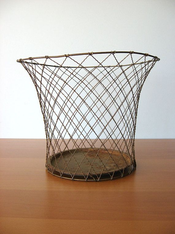 Vintage Waste Basket  Industrial Storage by vintageseventyfive, $69.00