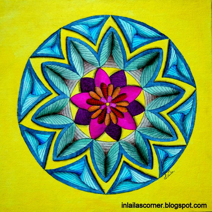Mandala with great depth. Twinks and acrylics