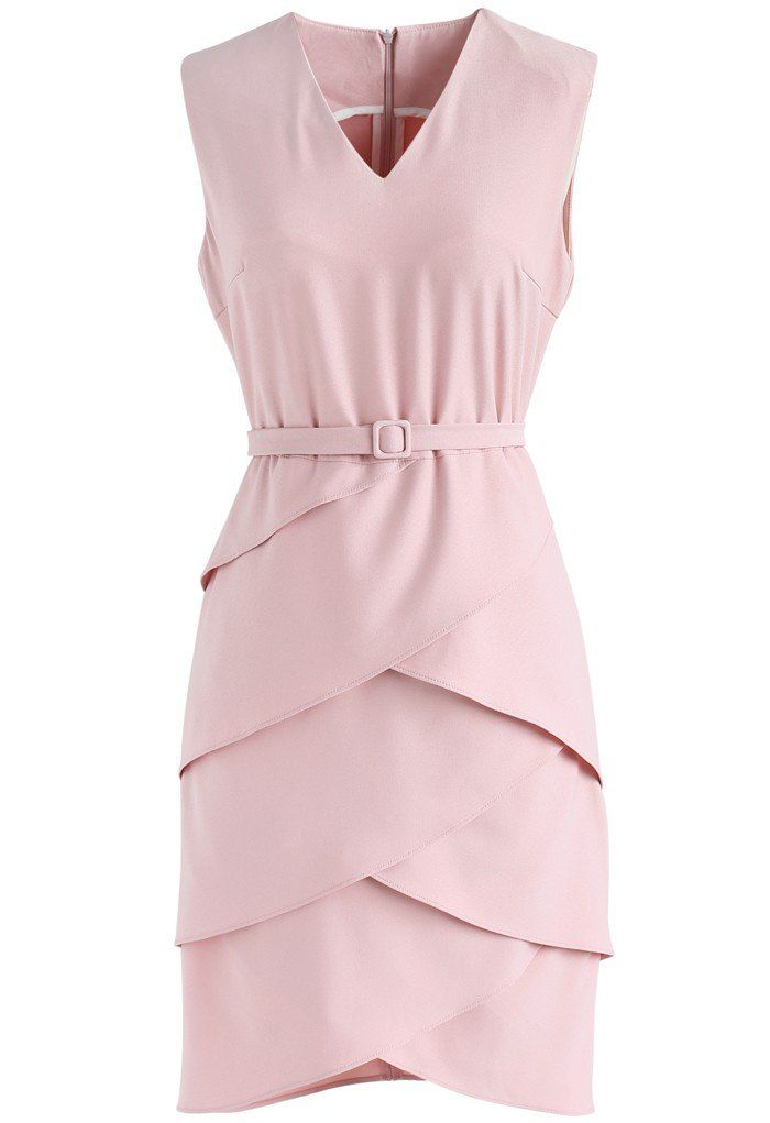 Tiered Admiration Sleeveless Dress in Pink - New Arrivals - Retro, Indie and Unique Fashion