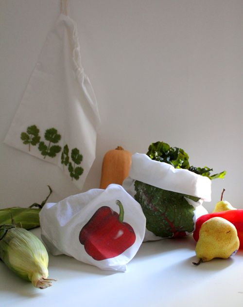 sewing101: image transfer produce bags