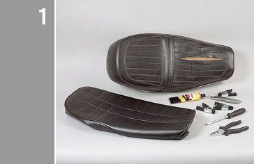 Motorcycle seat restoration by Louis Moto