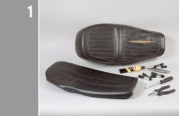 Motorcycle seat restoration by Louis Moto