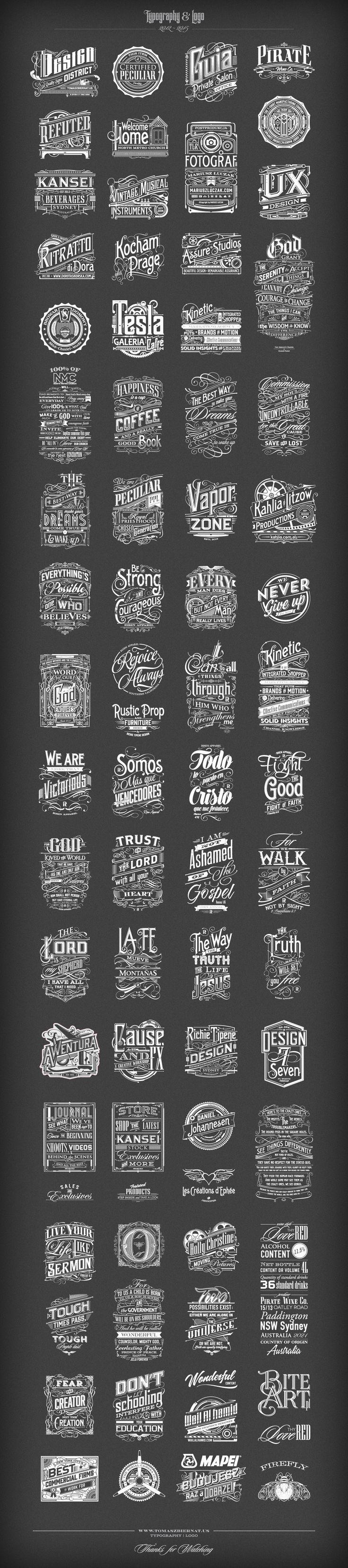 Typography | Logo 2012-2015 on Behance by Tomasz Biernat