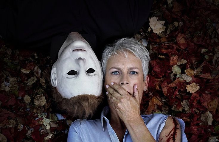 Michael Myers and Jamie Curtis