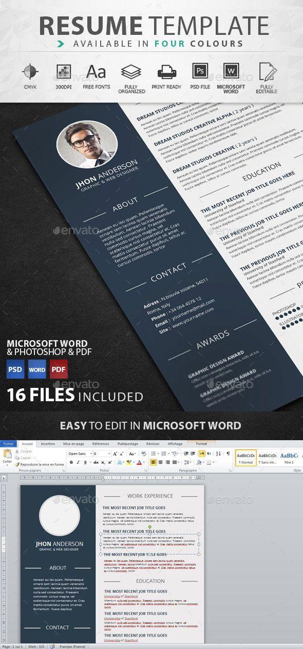 Creative graphic design resume template 33 best