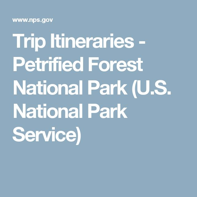 Trip Itineraries - Petrified Forest National Park (U.S. National Park Service)