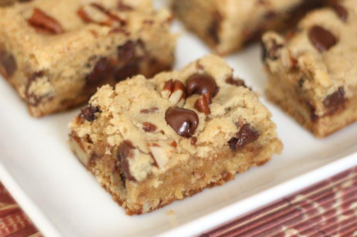 Barefeet In The Kitchen: Chocolate Chip Pecan Blondies - Gluten Free or Not