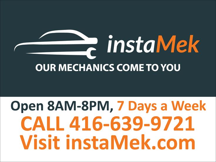 InstaMek Mechanics 24x18 coroplast sign; Our mechanics come to you; open 7 days a week; full colour print on coroplast signs