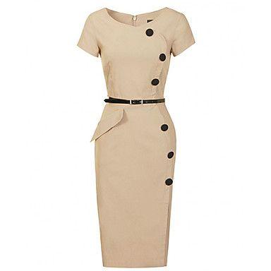 Women's New Fashion OL Ladies Dress Bodycon Slim Pencil Dress Evening Party Dress – USD $ 18.89