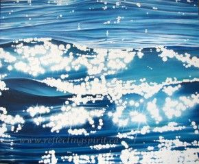 """Sea Sparkles"" Original Oil Painting on Canvas by Signy Cohen"