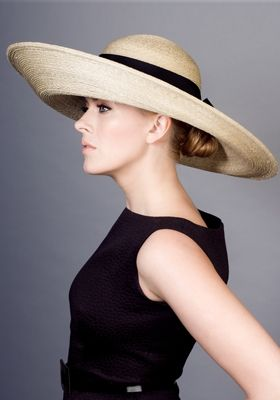 Rachel Trevor-Morgan Millinery, Italian straw picture hat with petersham ribbon. #passion4hats