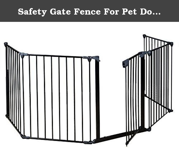 Safety Gate Fence For Pet Dog Cat and Baby by Eaglelnw. Constructed of heavy duty tubular steel. All joints easily rotate and lock for secure attachment. Quick release, adjustable wall mount hardware.;Can be connected as a freestanding play area with optional extensions. Comes with a door with handle to make it easy for you to get through to your fireplace, or grill.;Door section can be placed anywhere within the layout. Safety for use around fireplaces, grills, wood burning stoves, etc....
