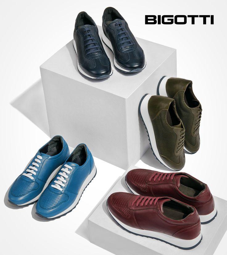 #New #collection  #Bigotti #sneakers - #urban #style in #leather & #fabulous #colours www.bigotti.ro