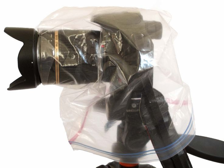 Gallon Bag as Camera Snow Protection on Boost Your Photography