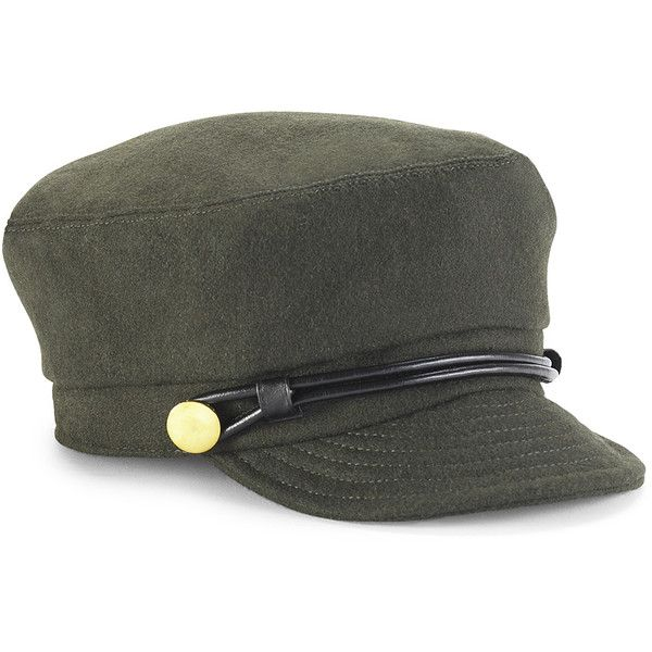Wool Military Cap ($20) ❤ liked on Polyvore featuring accessories, hats, chapeu, fashion accessories, military, military-style hats, cap hats, woolen caps, woolen hat and military hats