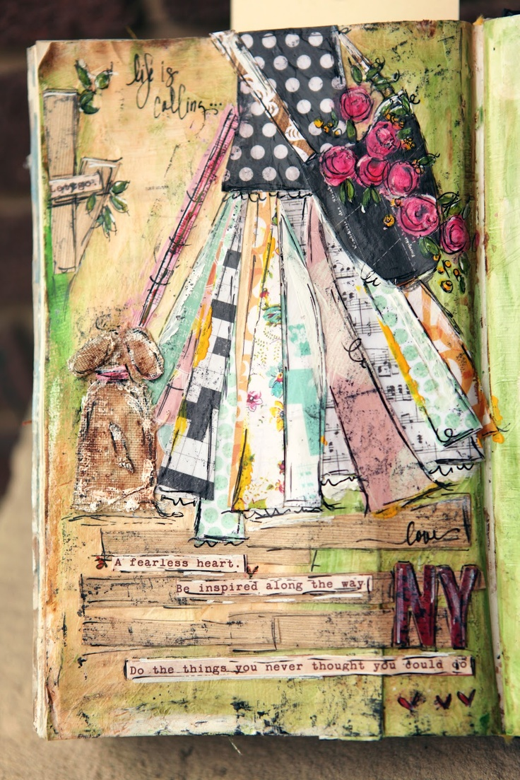 day in the park by Junelle Jacobsen. Mixed medium project with Christy Tomlinson's August kit.