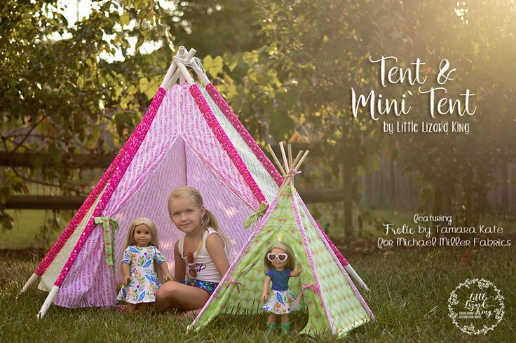 {Feature} Tent Pattern and *NEW* Mini Tent Pattern — Little Lizard King