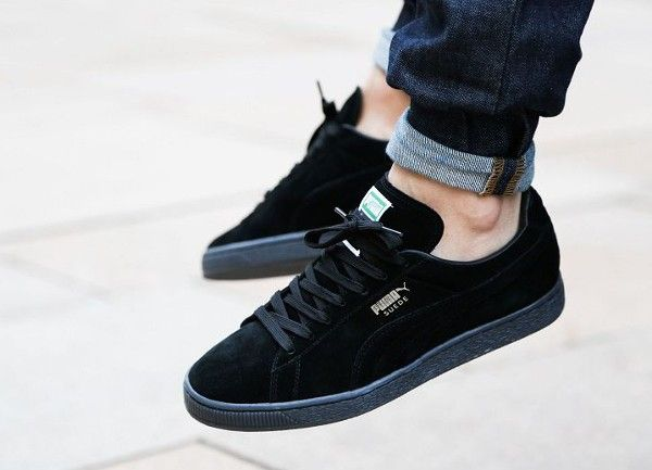 all black puma suede womens