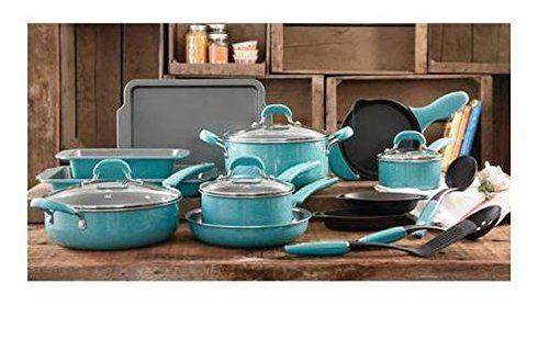 The Pioneer Woman Vintage Speckle 20-Piece Blue Cookware Pans Pots, http://www.amazon.com/dp/B018V6WTDU/ref=cm_sw_r_pi_awdm_XO6Bwb14KRY3P