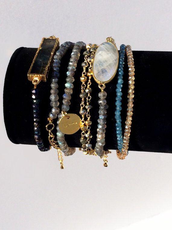 Gold Pyrite Bracelet facited pyrite beads by CharlotteCoutureGlam