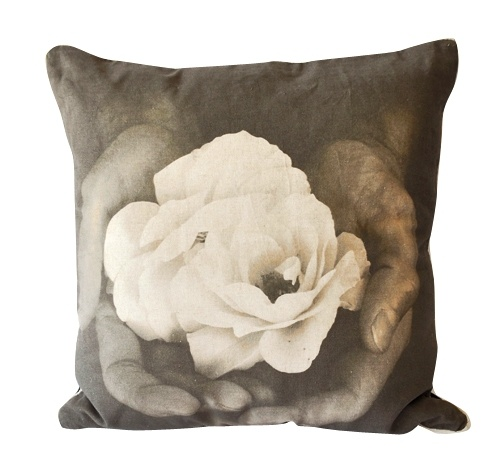 'Offering' cushion. 50 x 50cm