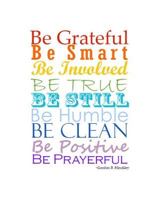 Be Attitudes by Gorden B. Hinckley - free printable from Loving Life Designs