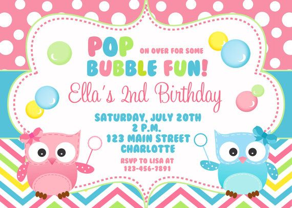 25 best ideas about Bubble birthday parties – Invites Birthday Party