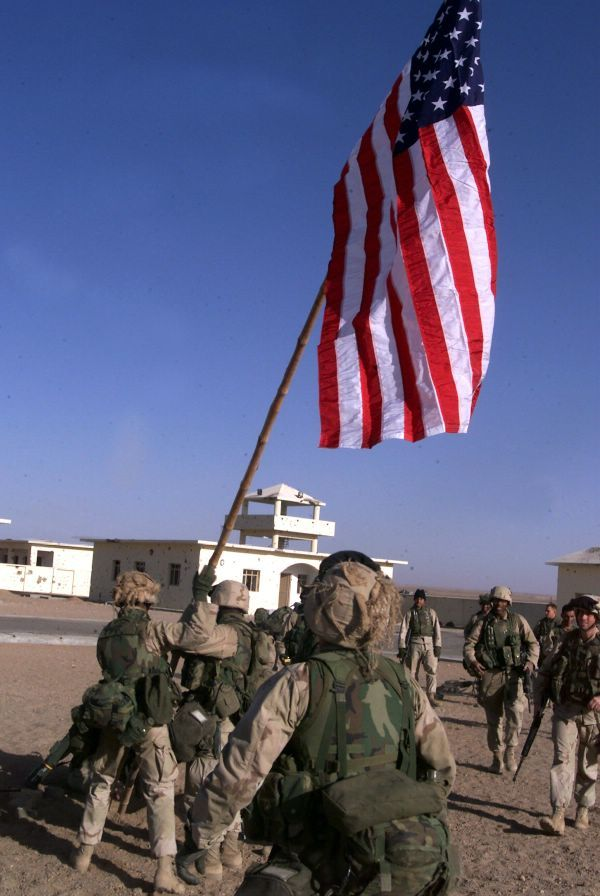 deployed soldier flag