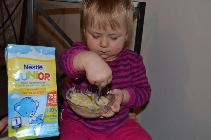 ... a na podwieczorek.... twarożek z Nestle Junior..... #NestleJUNIOR #pysznesmaki #miód #wanilia