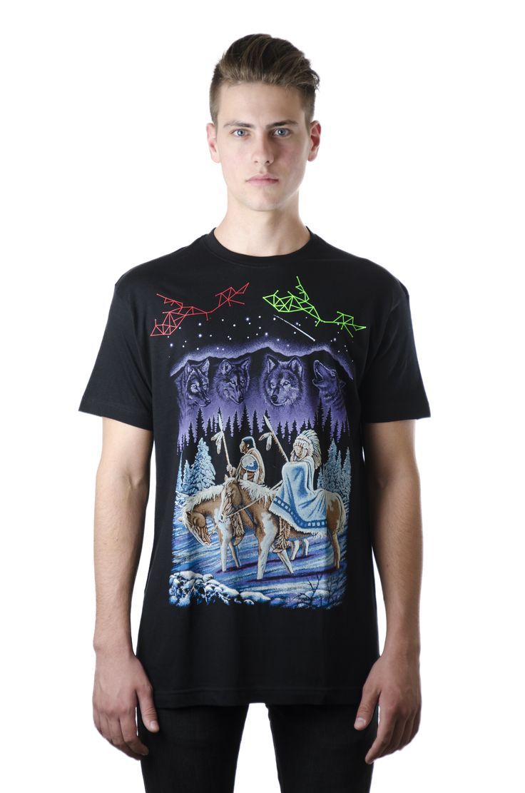 Unisex Black Tshirt / Design: Spirits