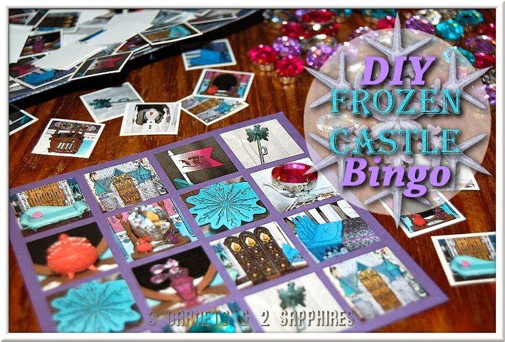 DIY Disney FROZEN Castle Bingo Game plus Free Printable - #FrozenFun #shop #cbias