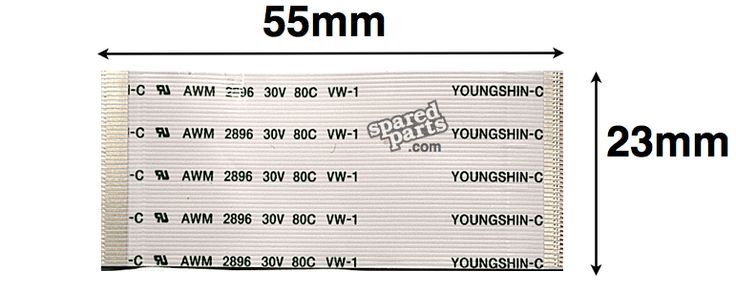 Youngshin 45 PIN FFC 55 x 23mm AWM 2896 30V 80C VW-1 | FFC ...