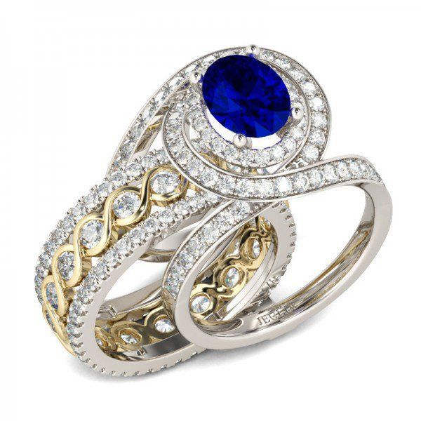 I found this beautiful item - Jeulia Interchangeable Intertwined Halo Oval Cut Created Sapphire Wedding Set from Jeulia.com, they offer premium quality jewelry at affordable price. Like it? Follow the link to purchase this ring!  #affiliate