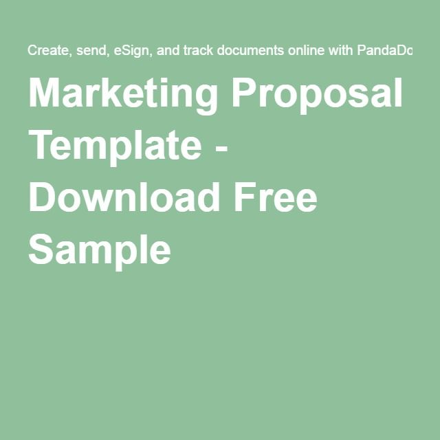 Top  Best Marketing Proposal Ideas On   Portfolio