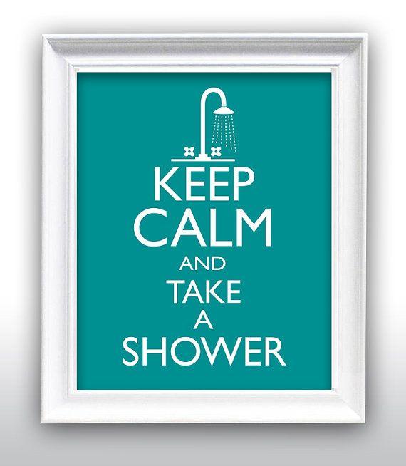 Awesome Bathroom Wall Decor Bathroom Art Shower Keep Calm x Gallery Quality Art Print